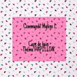 *** RÉSERVÉ *** Commande Mylène L. - Cape de Bain XXL thème PAPILLON