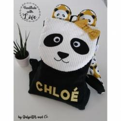"""Sac à Dos Maternelle """"Panda"""" Personnalisable"""