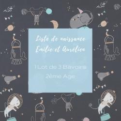 Lot de 2 Bavoirs 2ième Age (6 mois et +)