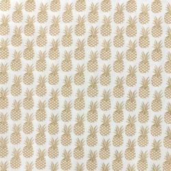 Tissu LES FLEURIS (Ananas dorés)