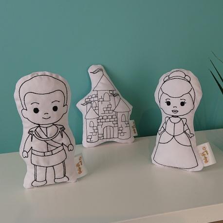 Ensemble de poupées à colorier
